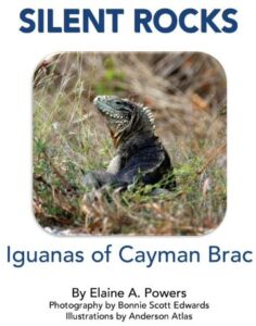 white book cover with rock iguana photo on cover