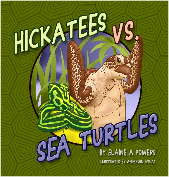 green book cover with turtle illustration