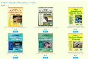 Collage of Science Education Workbooks