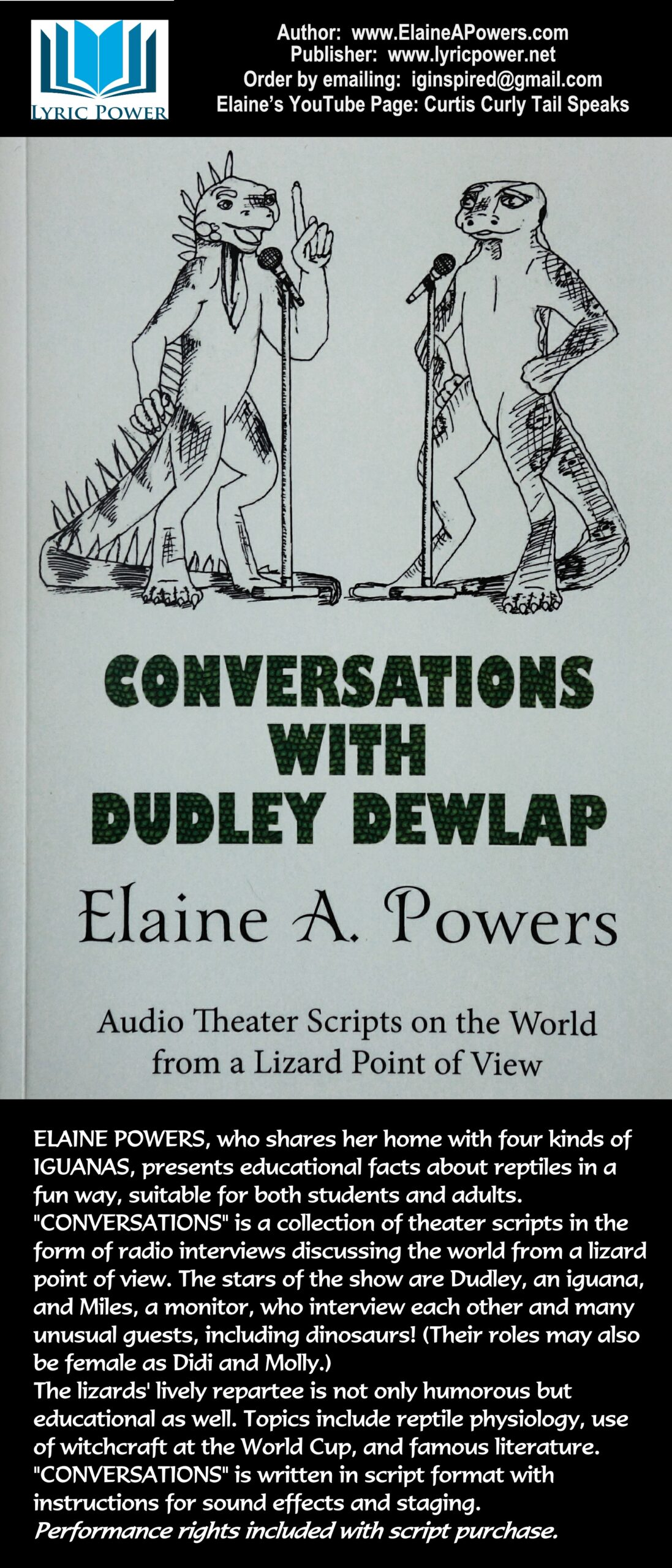 book cover of audio script Converations with Dudley Dewlap