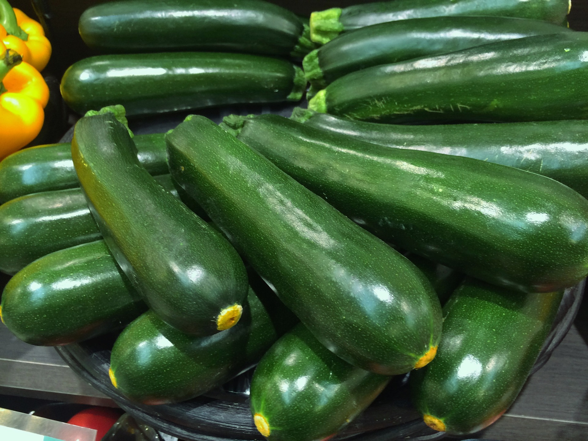 photo of a batch of zucchini on table