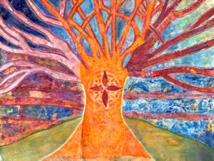 paper painting called Tree of Life