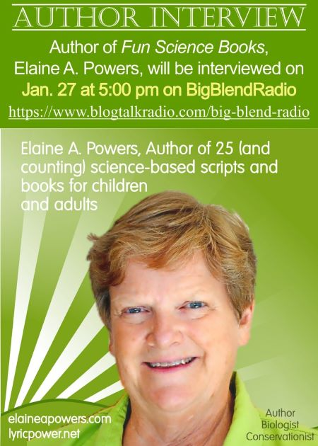 Author Interview: Elaine A. Powers January 27th Big Blend Radio