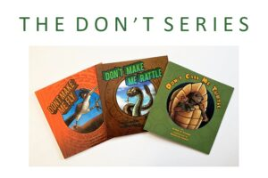graphic of three books in The Don't Series