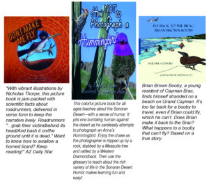 infographic about three fun science books about birds