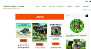 screenshot web page Lizards