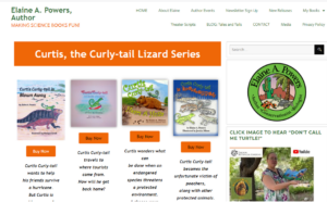 Screenshot of Curtis Curly-tail books
