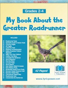 book cover about greater roadrunner GR 2-4