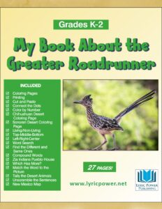 Book cover about the Greater Roadrunner GR K-2